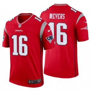 Men Jakobi Meyers #16 New England Patriots Jersey